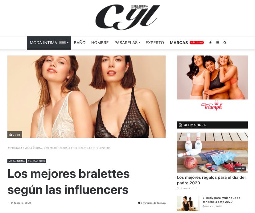 Entrevista CYL Moda íntima