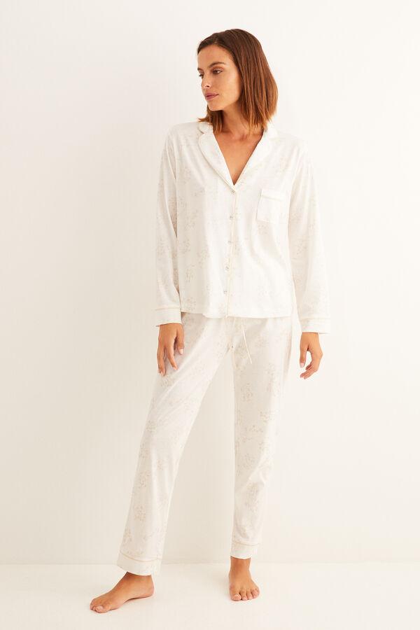 Pijama camisero con estampado de flores de Women'Secret