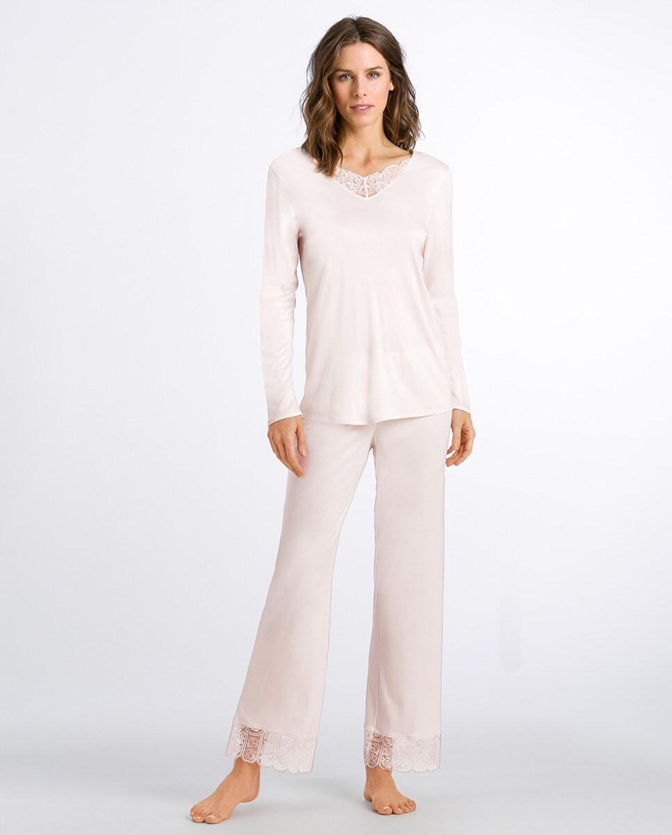 Pijama de temporada de seda y modal de Hanro