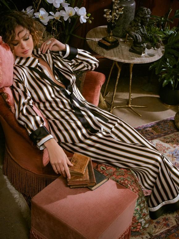 Pijama de temporada de seda Marjolaine
