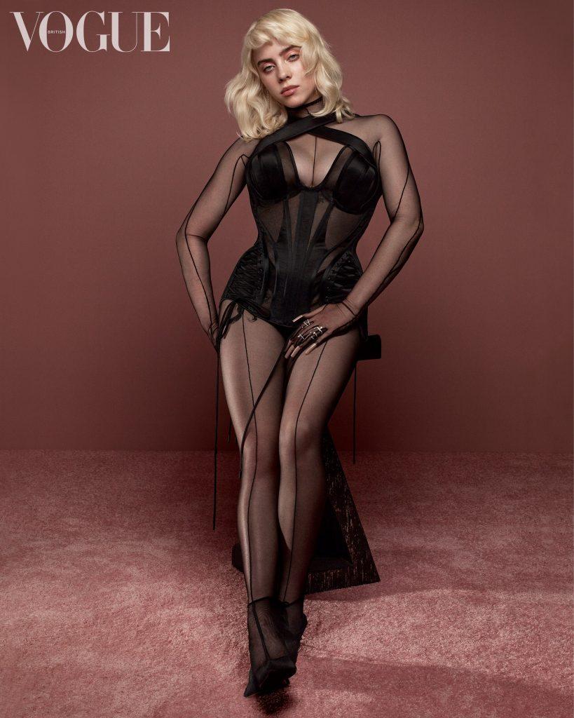 Billie Eilish fotografiada para la edición británica de la revista Vogue