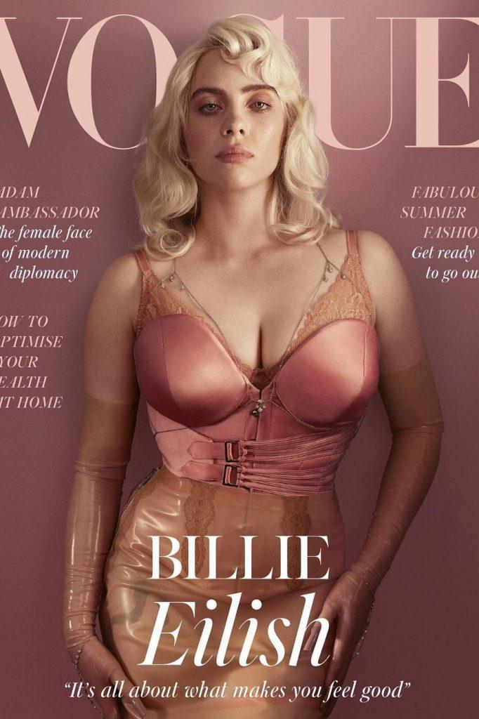 Billie Eilish en la portada de la revista Vogue, edición británica, mayo 2021